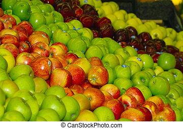 lott, av, äpplen