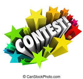 lotteria, parola, concorso, fireworks, stelle, notizie, ...