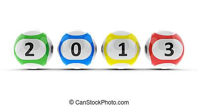 Lottery balls 2013