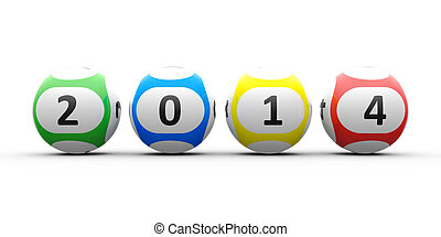 Lottery balls 2014