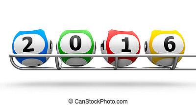 Lottery balls 2016 frame