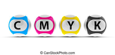Lottery balls CMYK #2