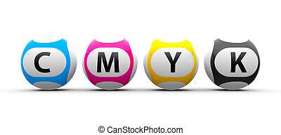 Lottery balls CMYK