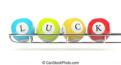 Lottery balls isolated on white