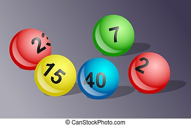 Lottery balls illustration