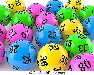 Lottery balls on close views