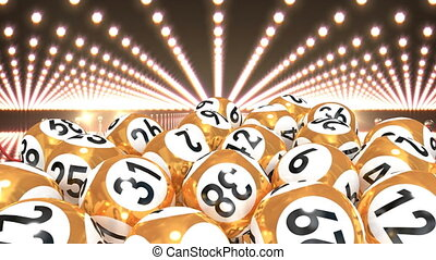 Lottery balls on red carpet video