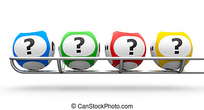Lottery balls question - Lottery balls with questions on a...
