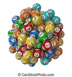 lottery balls stack.