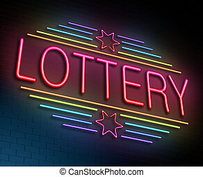 Lottery concept. - Illustration depicting an illuminated...