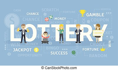 Lottery concept illustration.