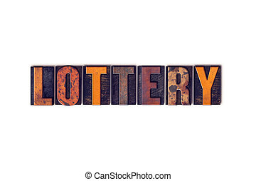 Lottery Concept Isolated Letterpress Type