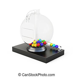 Lottery drum on a white background. 3d rendering