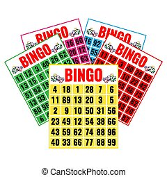 Lottery game tickets, logo design in gambling concept