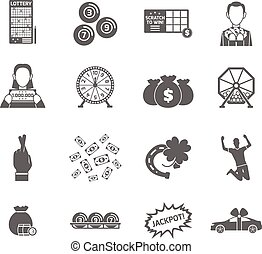 Lottery Icon Set