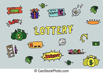 Lottery icons set