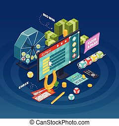 Lottery Isometric Composition