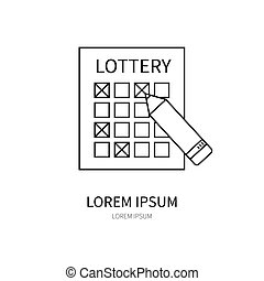 Lottery line icon.