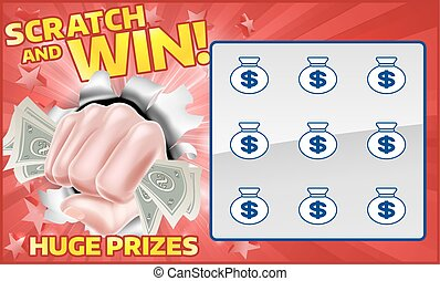 Lottery Scratchcard - A lottery instant scratch and win...