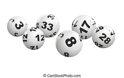 lottery - abstract illustration of dynamically rolling...