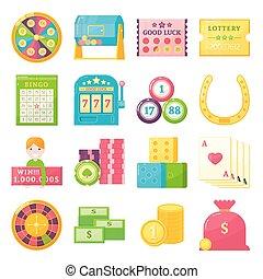 Lottery Theme Elements Set