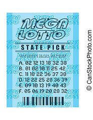 lottery ticket blue - National state lottery with mega lotto...