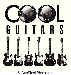 lotti, chitarra, grafico, guitars., fresco