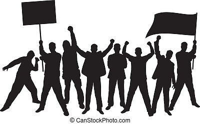 lotti, protestare, furioso, persone