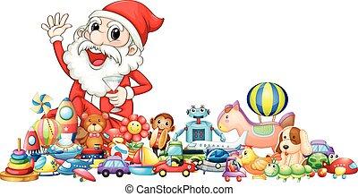 lotti, santa, giocattoli