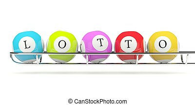Lotto balls isolated on white
