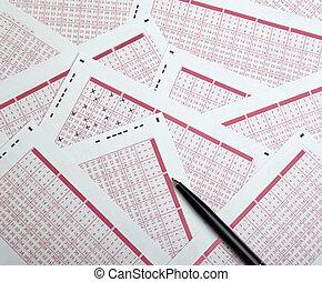 lotto, lotteria, scommessa, giocare d'azzardo, fortuna