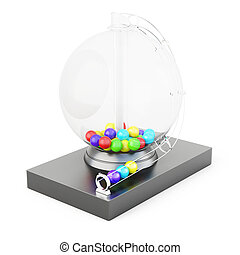 Lotto machine isolated on white background. 3d rendering