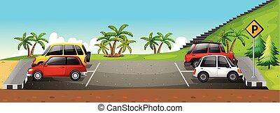 lotto, parcheggio