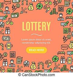 Lotto Signs Design Round Design Template Line Icon Concept. Vector