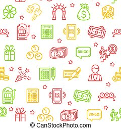 Lotto Signs Seamless Pattern Background. Vector