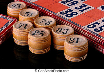 Lotto - Subjects for game in a lotto, the American variant...