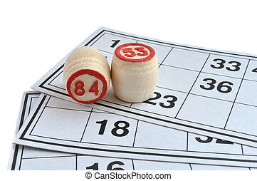lotto - Wooden kegs  on game cards