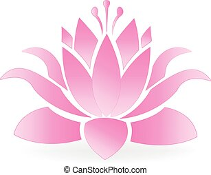Lotus blossom flower logo