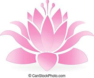 Lotus blossom flower logo