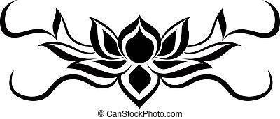 lotus - black lotus for back tattoo