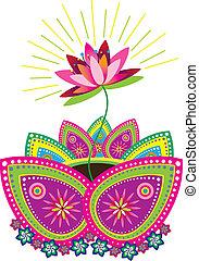 Lotus graphic art