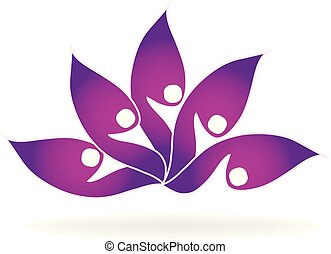 Lotus flower abstract vector