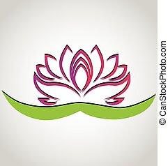 Lotus flower chinese symbol logo