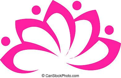 Lotus flower - Pink lotus flower logo