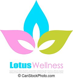 Lotus flower colorful logo