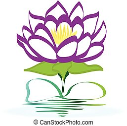 Lotus flower icon logo