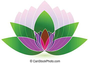 Lotus flower icon logo vector