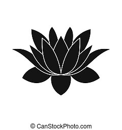 Blue Lotus Flower Icon Simple Style Blue Lotus Flower Icon In