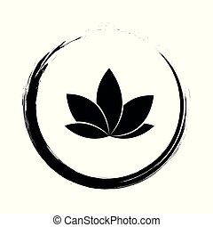 lotus flower in a cirlce vector illustration EPS10