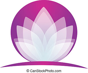 Lotus flower logo application - Lotus flower icon vector...